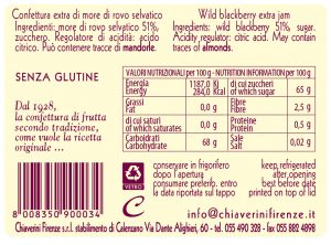 linea classica - tubetti - marmellata more - valori nutrizionali