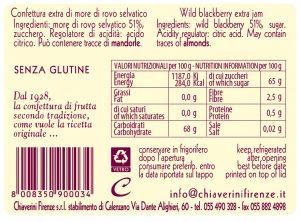 linea classica - colorati - marmellata more - valori nutrizionali