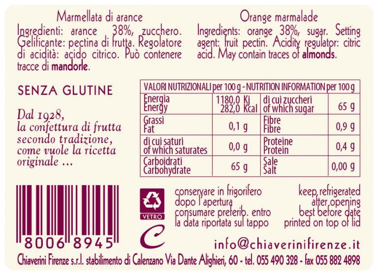 Etichetta Arance