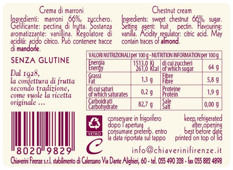 Etichetta Marroni